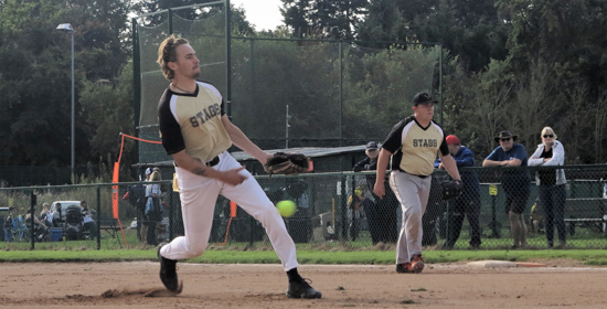 Action showing Stags from Great Britain Fastpitch League