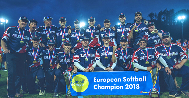 GB Men's Slowpitch Team win first European Championship in this format.